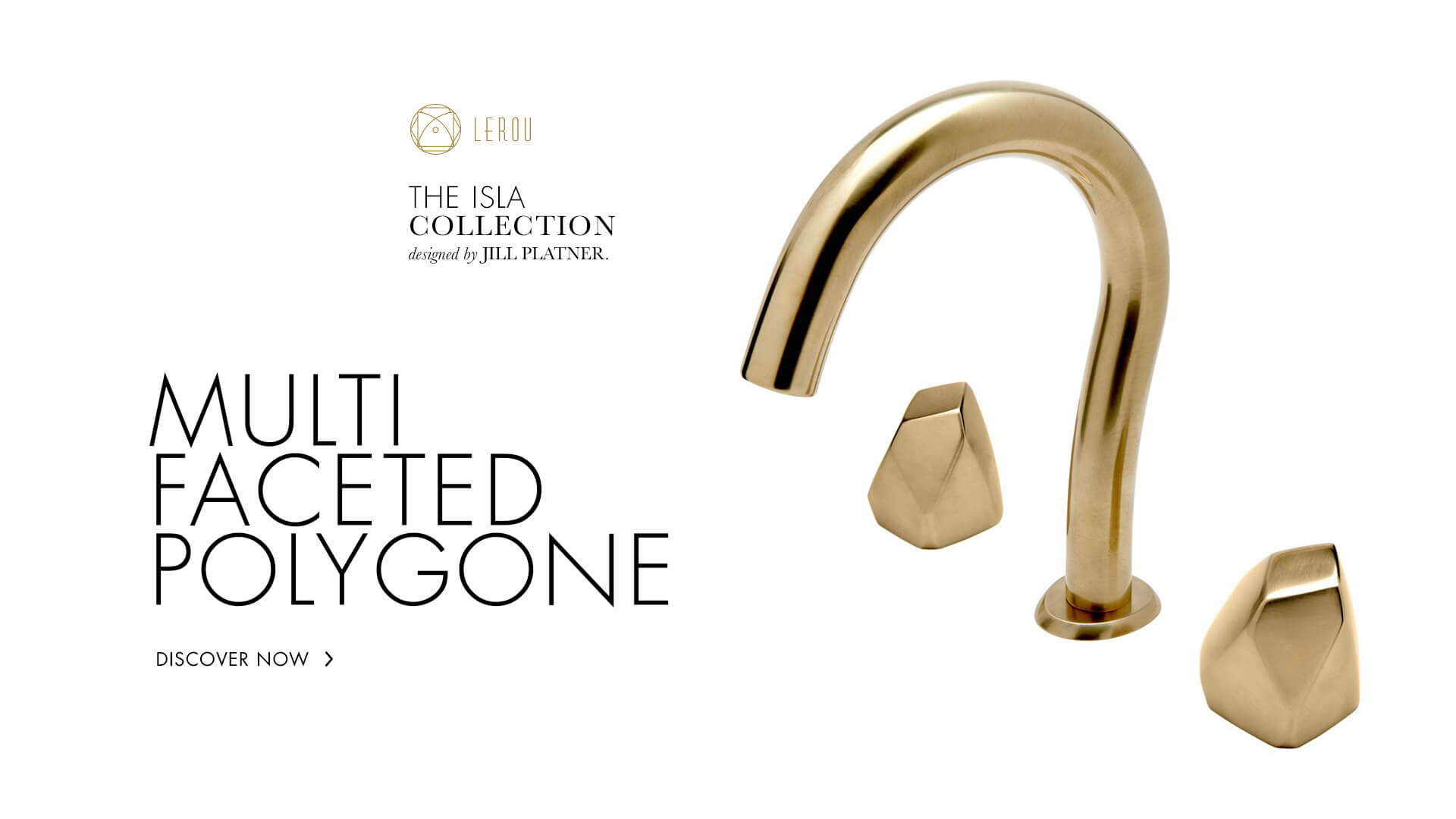 Design Your Tap As You Like: The Isla Collection by Jill Platner. Ontwerp uw kraan zoals u wenst: de Isla collectie ontworpen door Jill Platner.