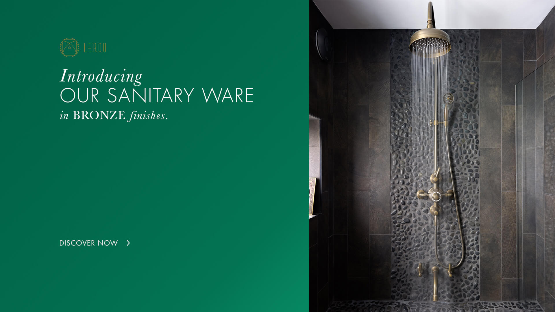 Lerou Sanitary Ware in Bronze Finishes. Lerou Sanitair in Brons.